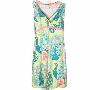 LILY PULITZER Southern Belle peacock halter dress
